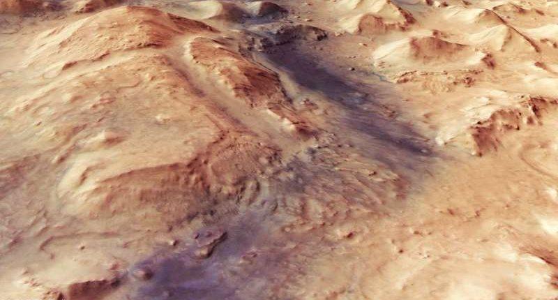 Зонд «Марс Экспресс» запечатлел уникальный регион на Марсе