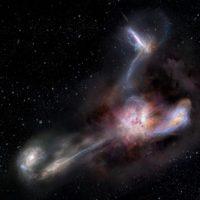 В ранней Вселенной обнаружена необычная галактика