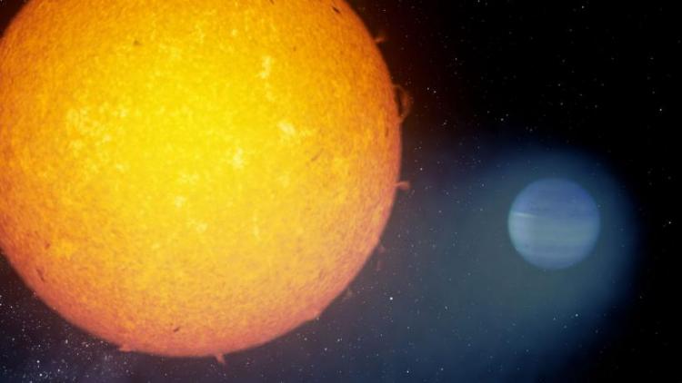 Возле экзопланеты обнаружено облако из гелия