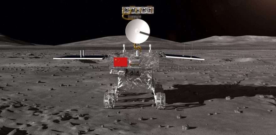 Китайский лунный ровер просыпается