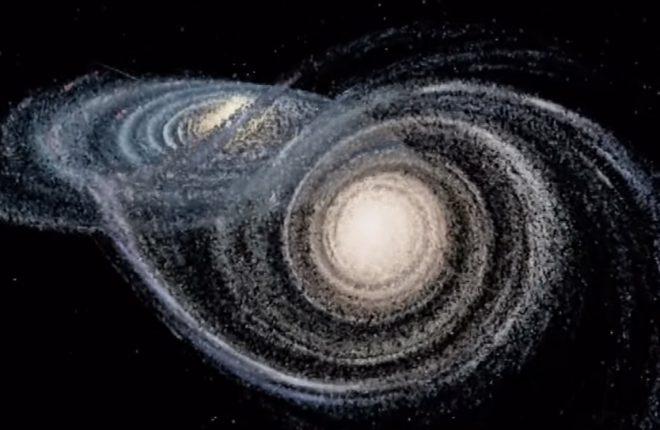 Страшное столкновение с соседней галактикой может выбросить Солнечную систему из Млечного Пути