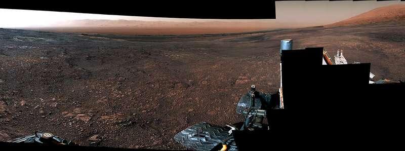 Видео 360: новая потрясающая панорама от марсохода Curiosity