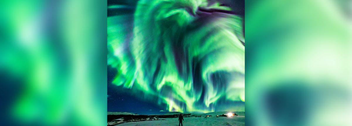 Над Исландией засиял «дракон»