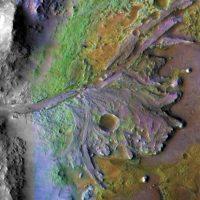 Опубликована фотография дельты высохшей марсианской реки