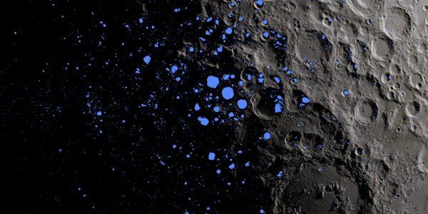 Ученые наблюдают за перемещением молекул воды вокруг Луны