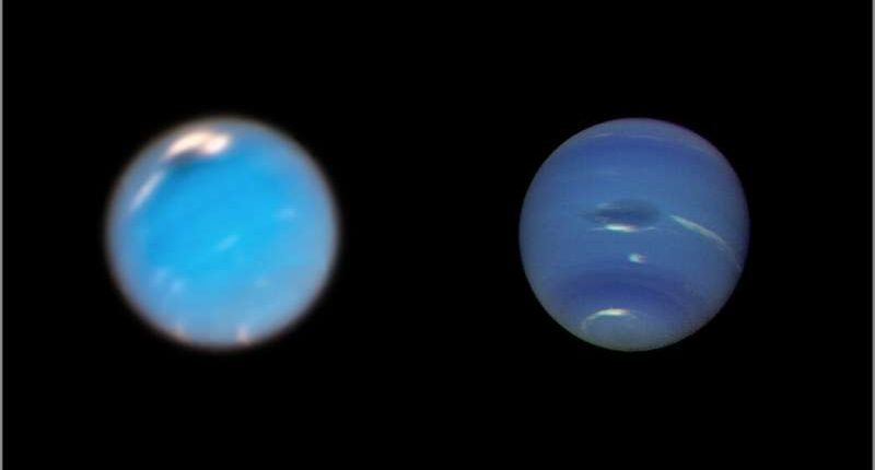 «Хаббл» запечатлел появления огромного пятна на планете Нептун