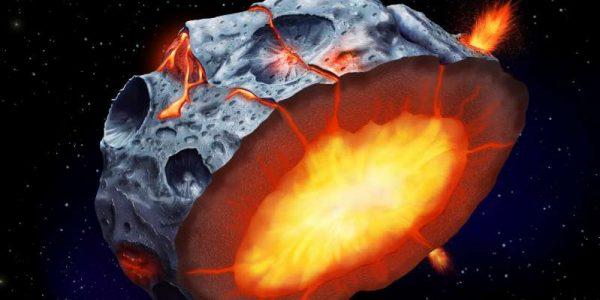 Учёные: на металлических астероидах возможно извержение вулканов