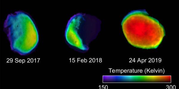 NASA показало полнолуние на Марсе с помощью тепловизора