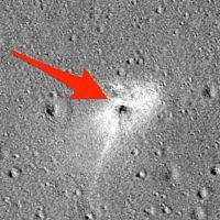 НАСА показало место крушения израильского лунного зонда
