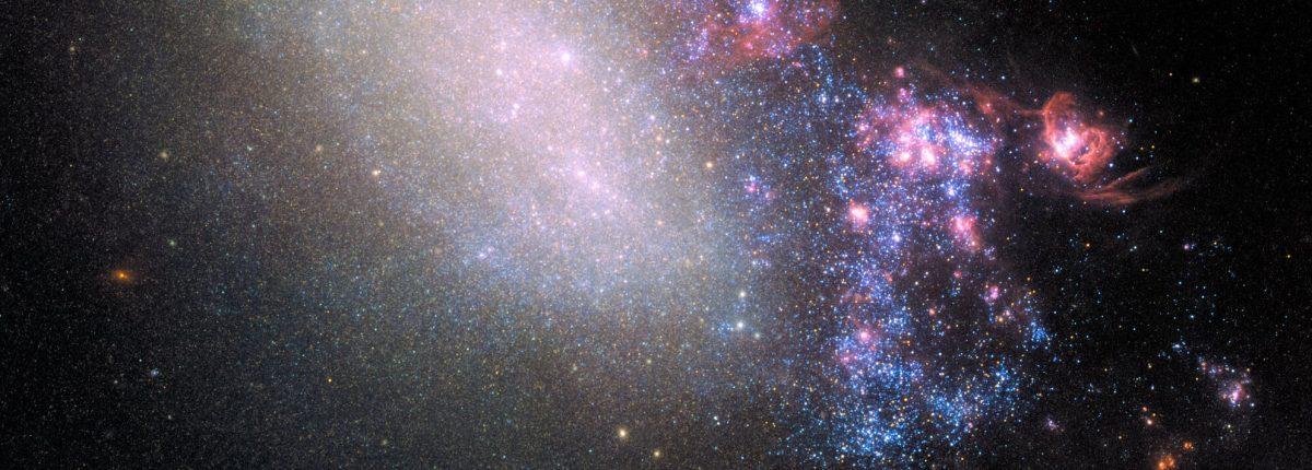 Хаббл запечатлел тактику «бей и беги» в галактическом масштабе