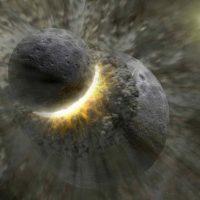 Колоссальное столкновение с карликовой планетой могло испортить нашу Луну