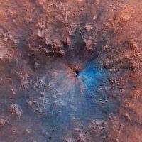 Живопись импрессионистов? Нет, это новый ударный кратер на Марсе