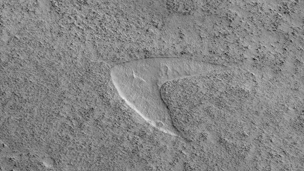 Эмблема Звездного флота из сериала «Звездный путь» была замечена на Марсе