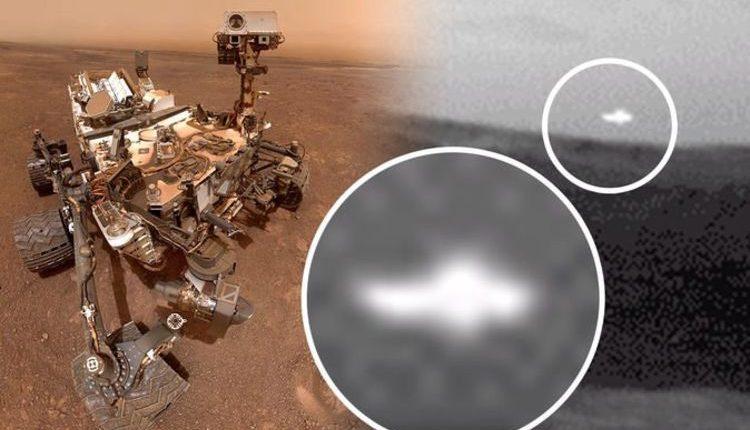 Марсоход Curiosity фотографирует таинственную аномалию на Красной планете