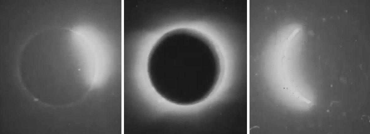 Вы должны увидеть самое старое видео солнечного затмения, сделанное в 1900 году