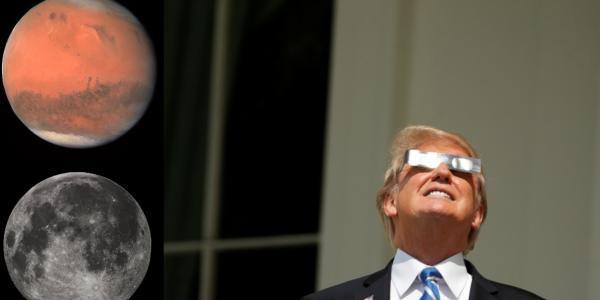 Дональд Трамп: Луна - часть Марса!