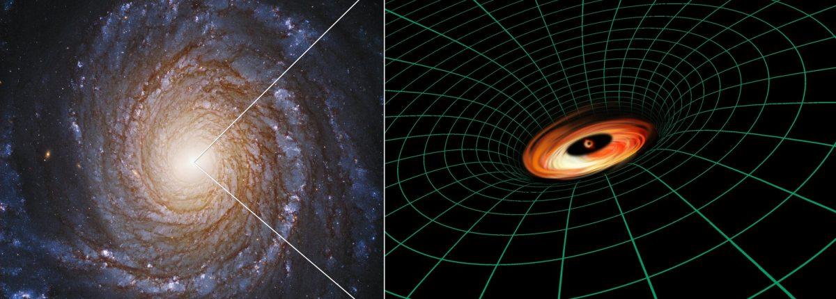 Черную дыру окружает загадочный диск — поразительная находка телескопа «Хаббл»