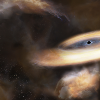 Черная дыра размером с Юпитер неистовствует в Млечном Пути