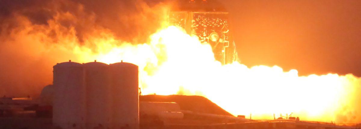 В Техасе завершились огневые испытания прототипа звездолёта Starhopper