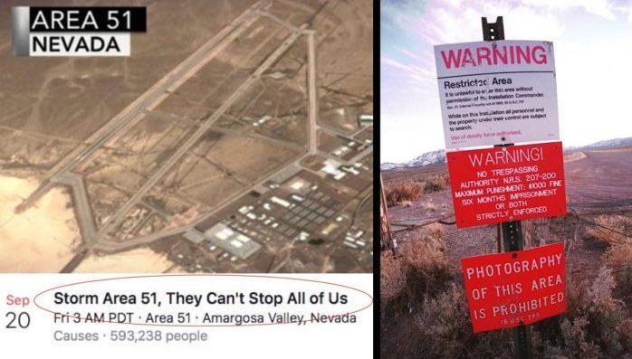 400 тысяч человек хотят совершить набег на Зону 51, чтобы «увидеть инопланетян»