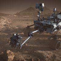 Снимок Curiosity с орбиты Марса