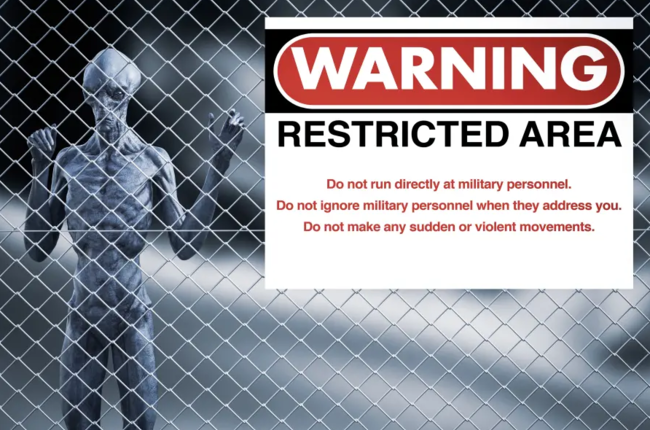 ВВС США выпустили предупреждение миллиону человек, желающим штурмовать территорию 51