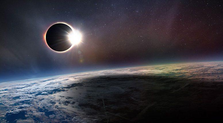 Солнечное затмение 2019: видео из космоса