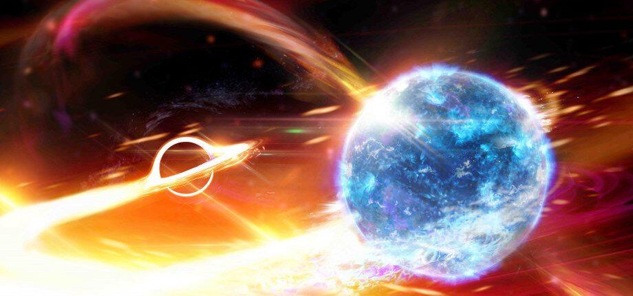 Впервые обнаружен случай, когда черная дыра поглощает нейтронную звезду