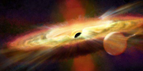 Астрономы обнаружили аномальные потоки исходящие из черной дыры