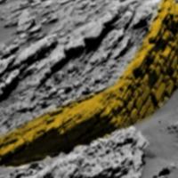 Древняя каменная стена, найдена на снимке сделанном марсоходом Curiosity