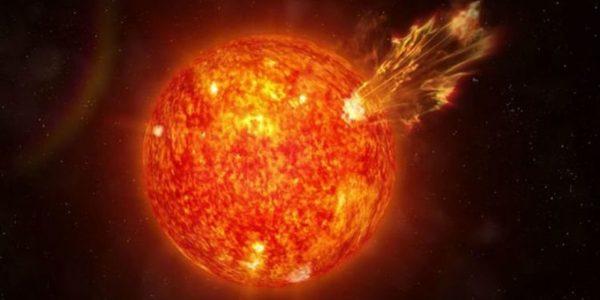 Взрыв на Солнце: ударная волна отправляет частицы в космос