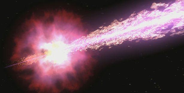 Астрономы обнаружили рекордное световое излучение от гамма-всплесков