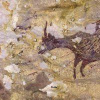 Наполовину животное, наполовину человек, изображены на древнейшем пещерном рисунке