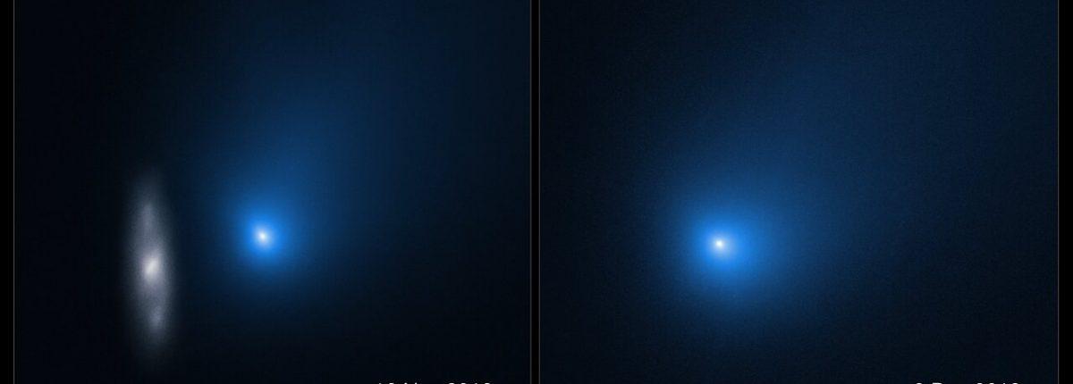 «Хаббл» поделился невероятными снимками кометы Борисова, летящей мимо Земли