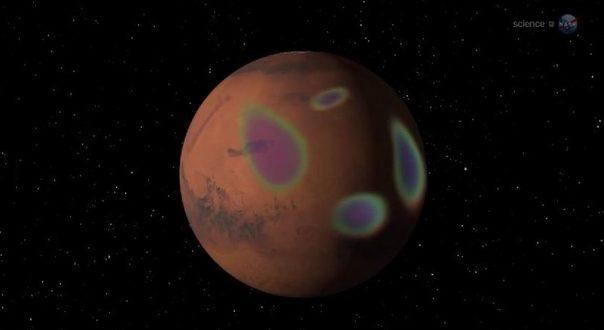 Протонные сияния на Марсе, ученые объяснили причину их возникновения