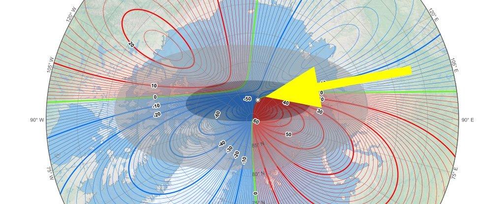 Магнитный Северный полюс Земли продолжает перемещаться к Сибири с рекордной скоростью