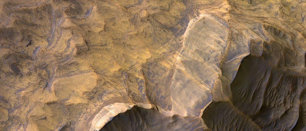 Потрясающий снимок НАСА показывает то, что кажется слоем песчаника на Марсе