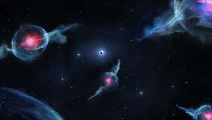 Странные, ни на что не похожие космические объекты, обнаружены в Галактическом Центре Млечного Пути