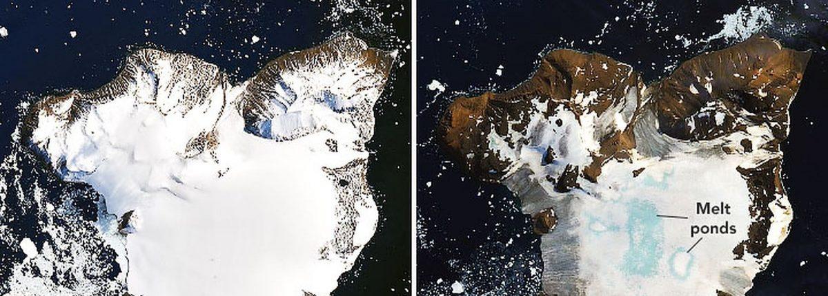 Спутник НАСА фиксирует таяние 20% снежного покрова Антарктиды