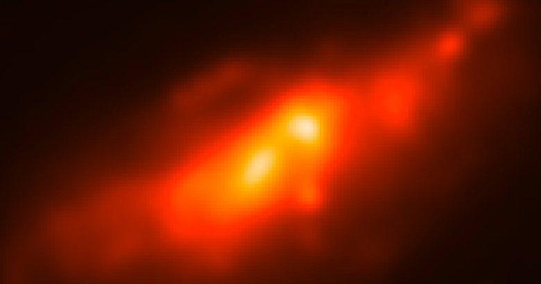 Чрезвычайно редкое «двойное ядро» было обнаружено в соседней галактике