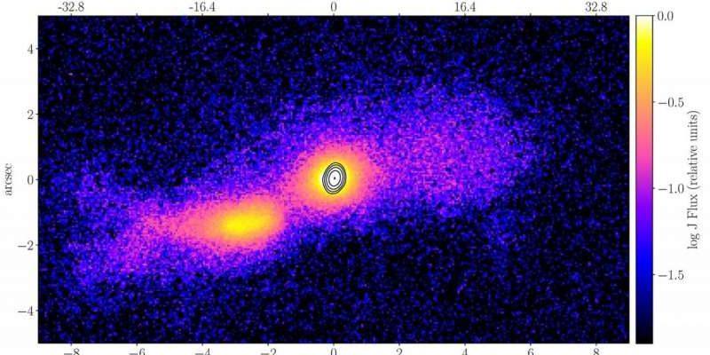 Получена первая в мире фотография струи, возникшей в результате столкновения галактик