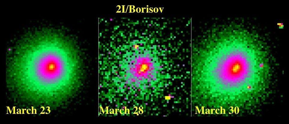 Межзвездная комета 2I/Борисов распадается на части