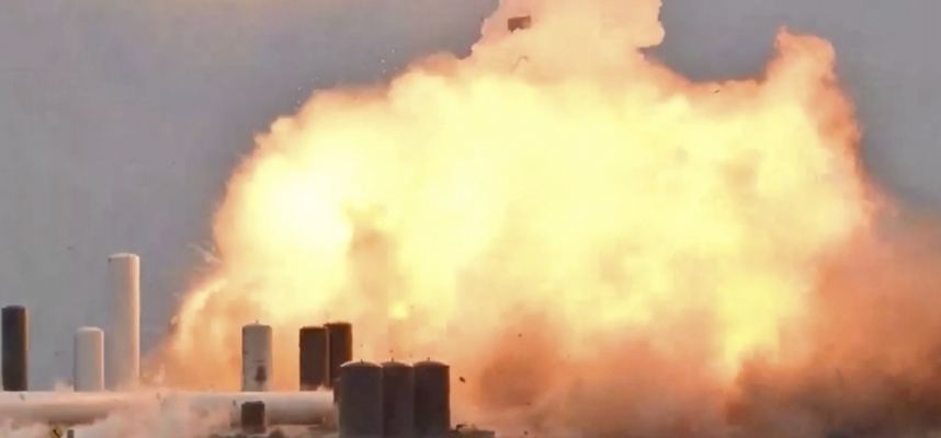 Прототип космического корабля SpaceX только что взорвался во время тестирования