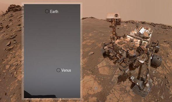 Марсианский робот сфотографировал Венеру и Землю