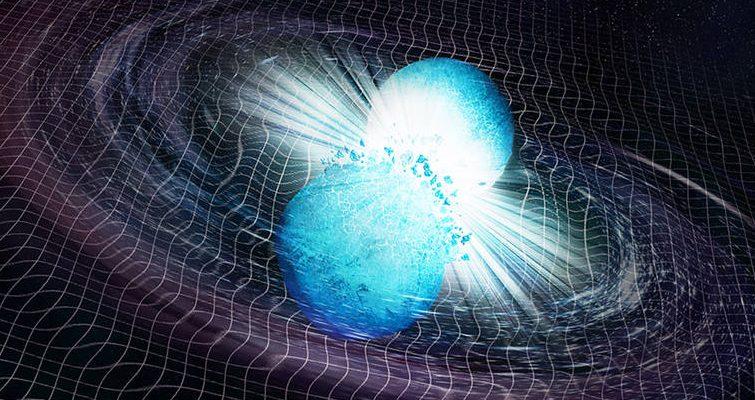 Взрывное излучение от столкновения двух нейтронных звезд достигло Земли спустя 10 миллиардов лет