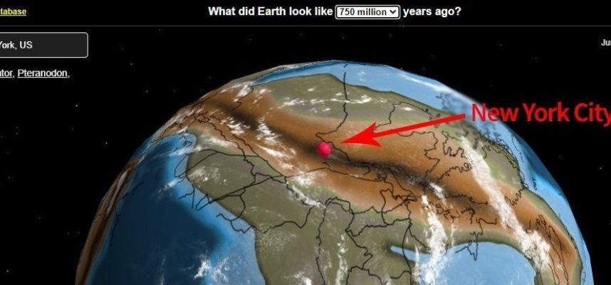 Интерактивная карта покажет, где был ваш дом 750 миллионов лет назад