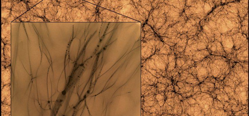 Астрономы показали, как выглядит темная материя