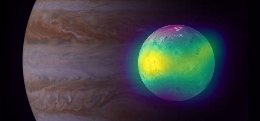 Впервые астрономы наблюдают струйки двуокиси серы из вулканов Ио