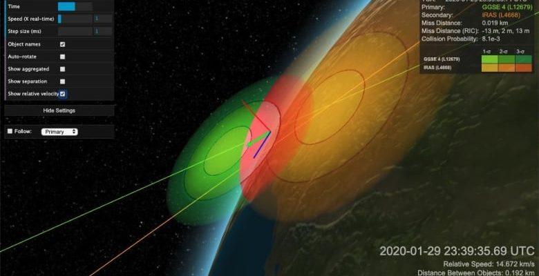 Эксперты наблюдают, как 2 мертвых спутника находятся на пути к потенциальному столкновению