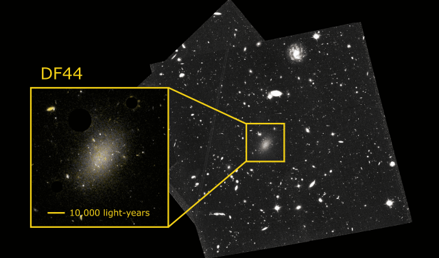 Астрономы раскрыли тайну галактики, содержащей 99,99 % темной материи